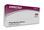 Tradex Intl Large Ambitex Poly Gloves PLG6505