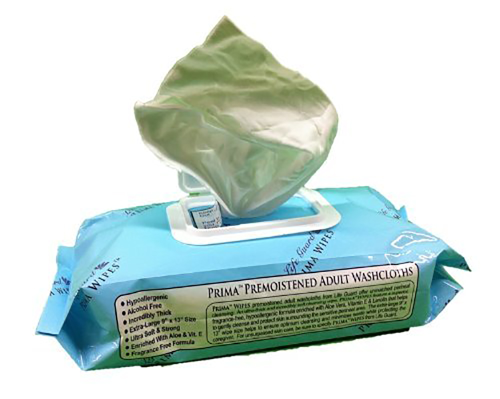 "Premier Care Ind 12""x8"" Adult Wipes 83-1485"