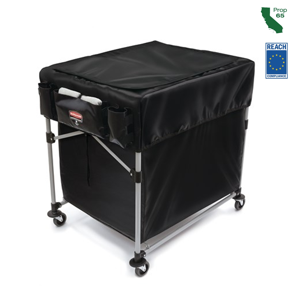 Rubbermaid Black Large Large Collapsible X-cart Cover 1889864