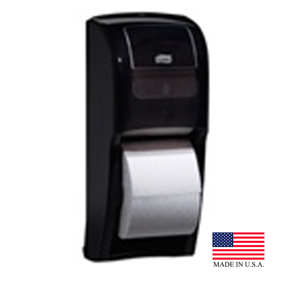 SCA Black Tork Elevation High Capacity Bathroom Tissue Roll Dispenser 555628