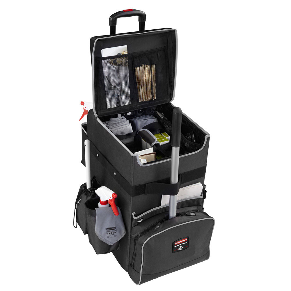 Rubbermaid Grey Large Executive Mobile Quick Cart 1902465