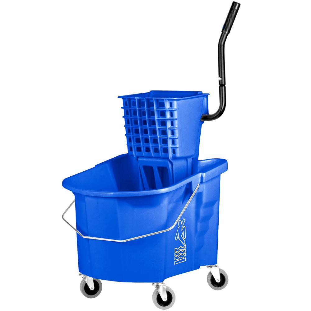 Continental Mfg Blue 35 Qt Mop Bucket And Wringer Combo 335-12BLUE