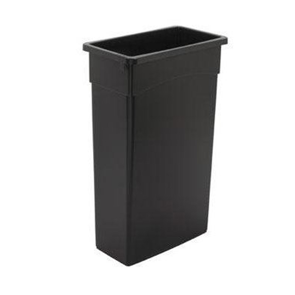 Continental Mfg Black 23 Gallon Wall Hugger       Receptacle With Out Handles 8322BK