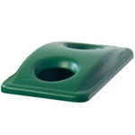 Rubbermaid Green Slim Jim Bottle And Can Recycling Lid For Slim Jim Containers FG269288GRN