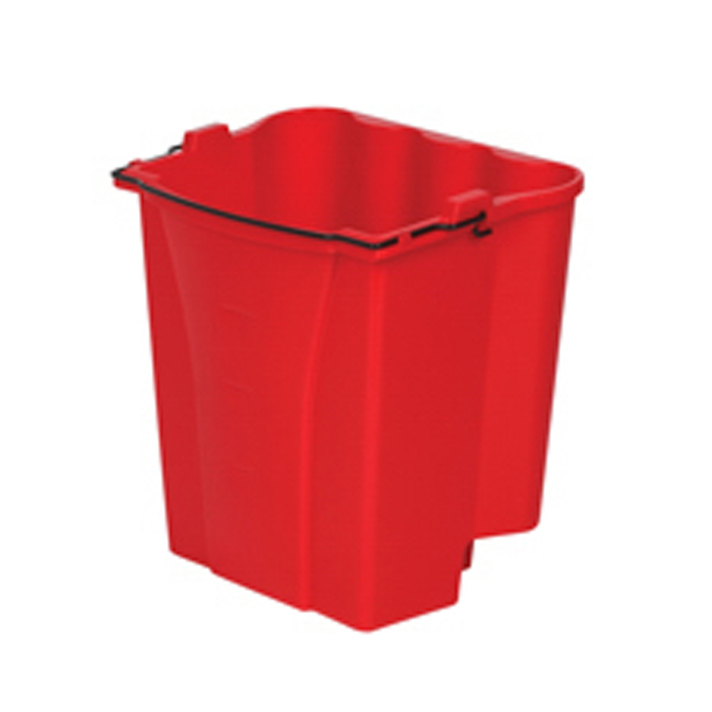 Rubbermaid Red 18qt Dirty Water Bucket Combo 9C74