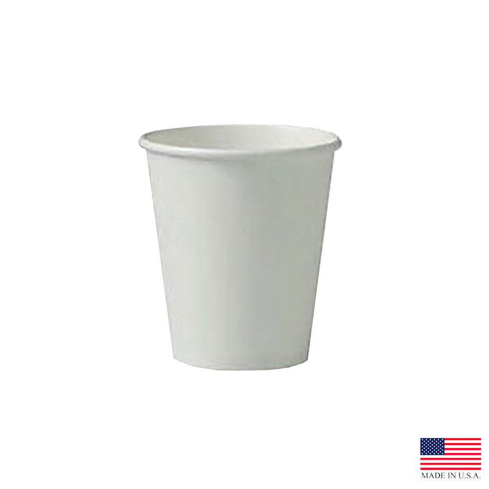 Solo White 6oz Single Poly Paper Hot Cup 376W-2050