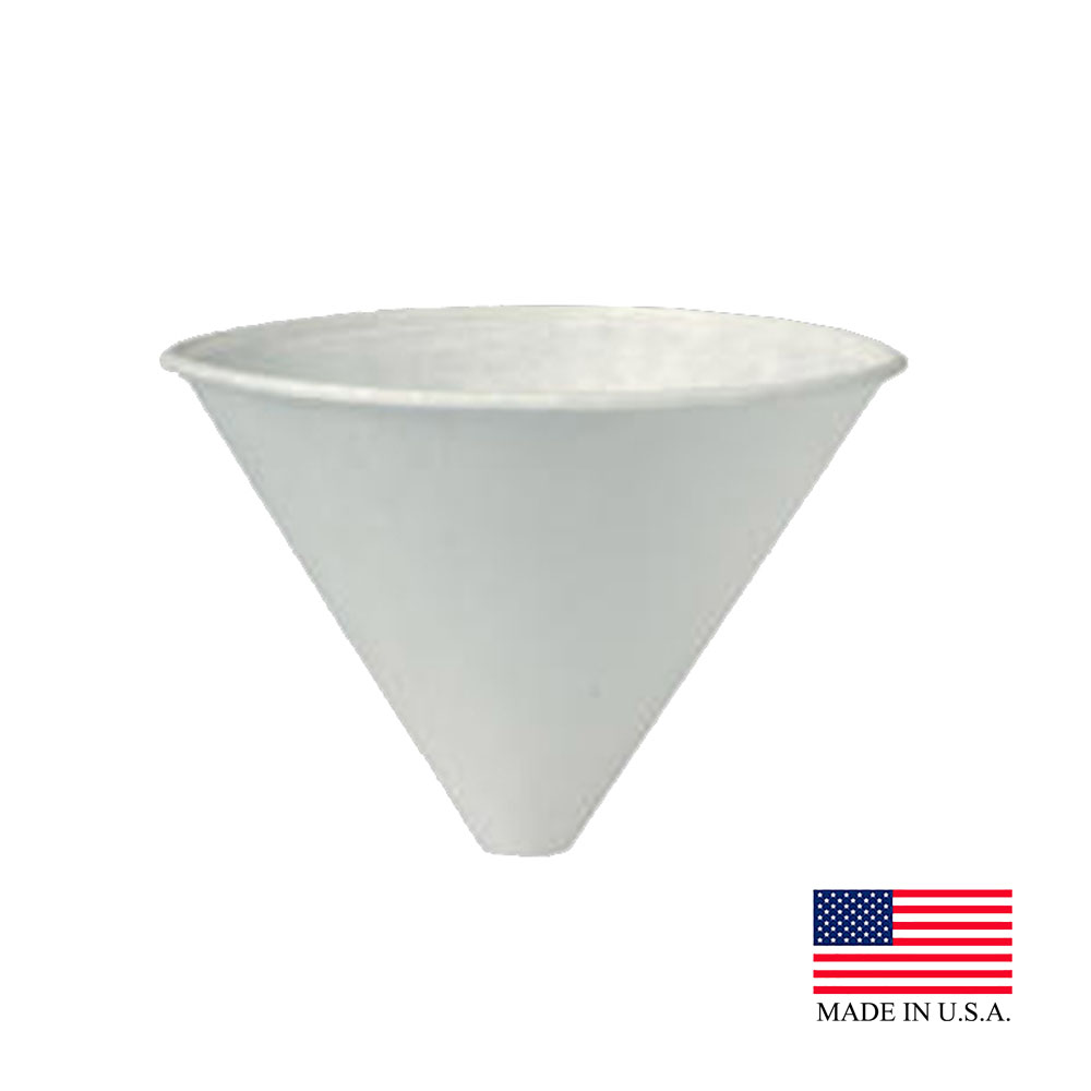 Solo White 6oz Adec Treated Funnel Cup 6SRX-2050