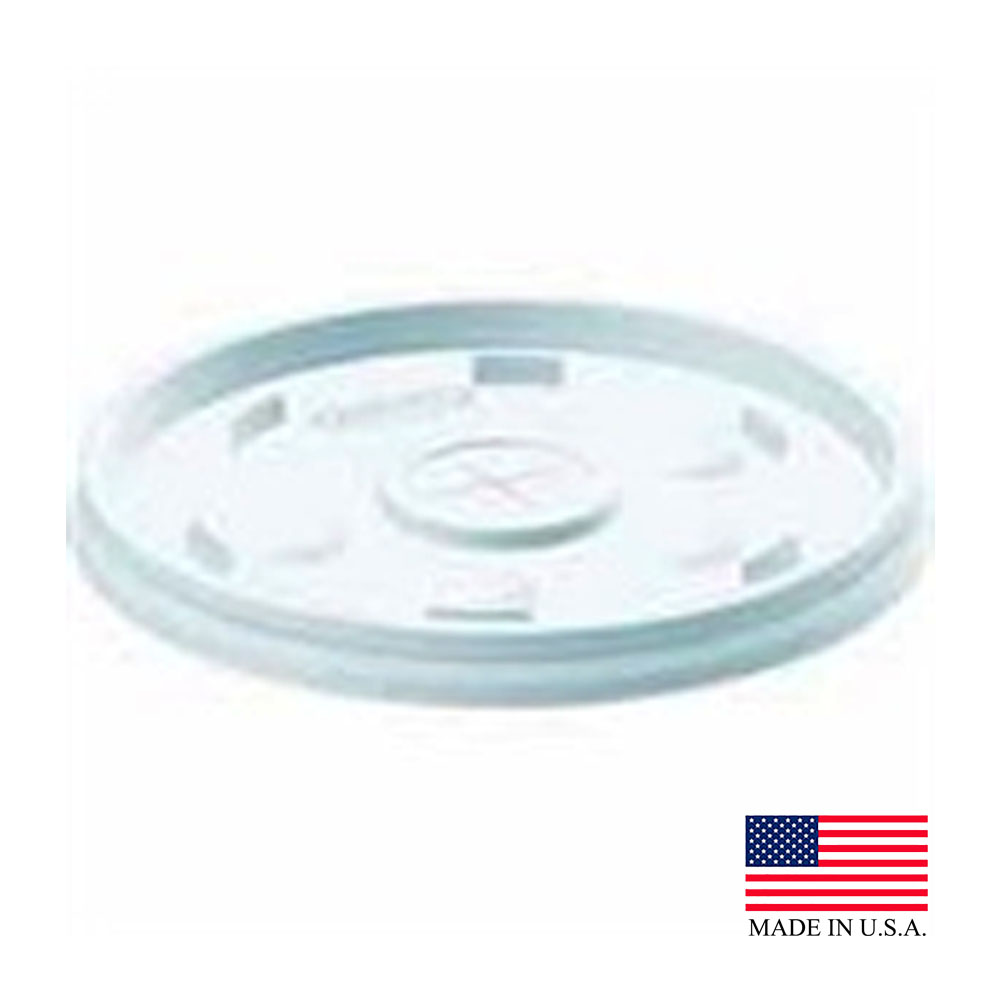 Dart White 10oz Lid With Straw Slot 10SL