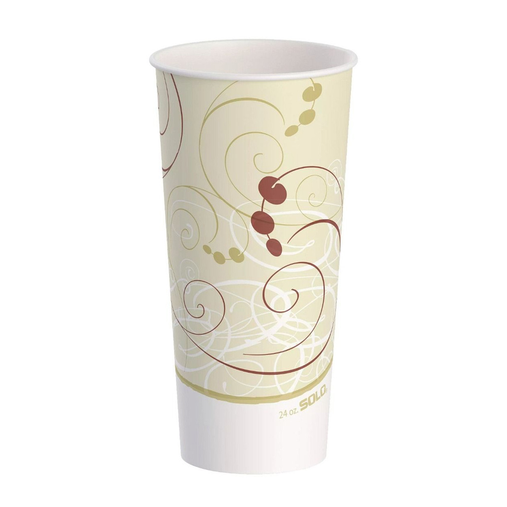 Solo 24oz Jazz Design Poly Double Sided Paper Cup RP24P-00055