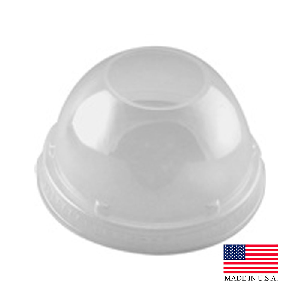 "Dart Clear Dome Lid With 1.5"" Hole 16LCDH"