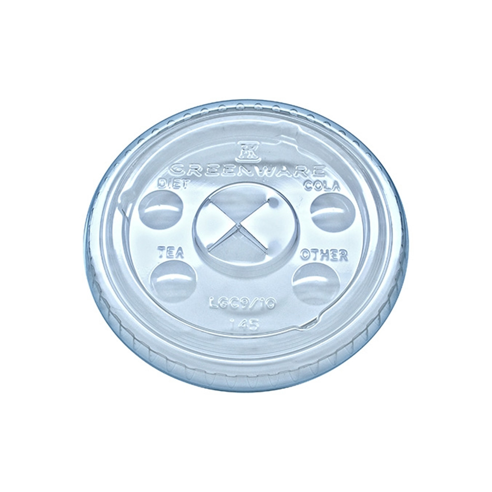 Fabrikal Clear Green Ware X-slot Lid With Flavor Buttons LGC 9/10