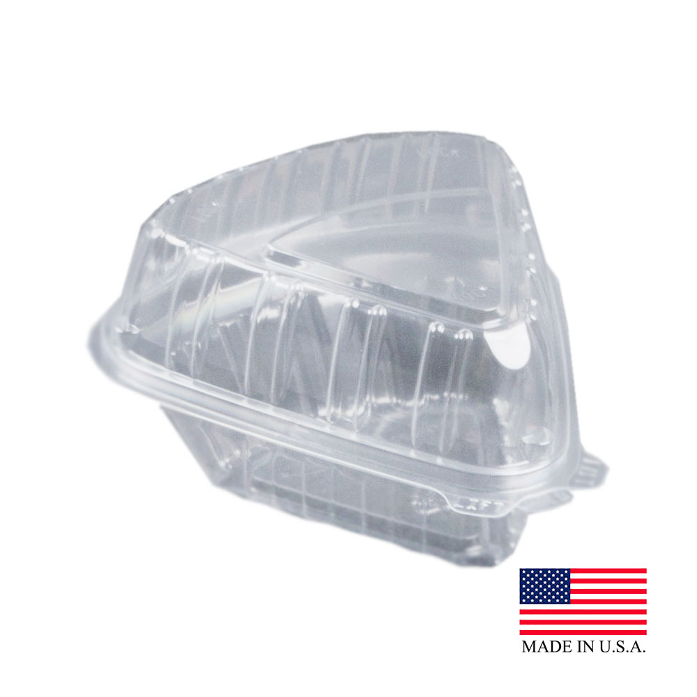 Dart Clear Showtime Pie Wedge Hinged Container C54HT1