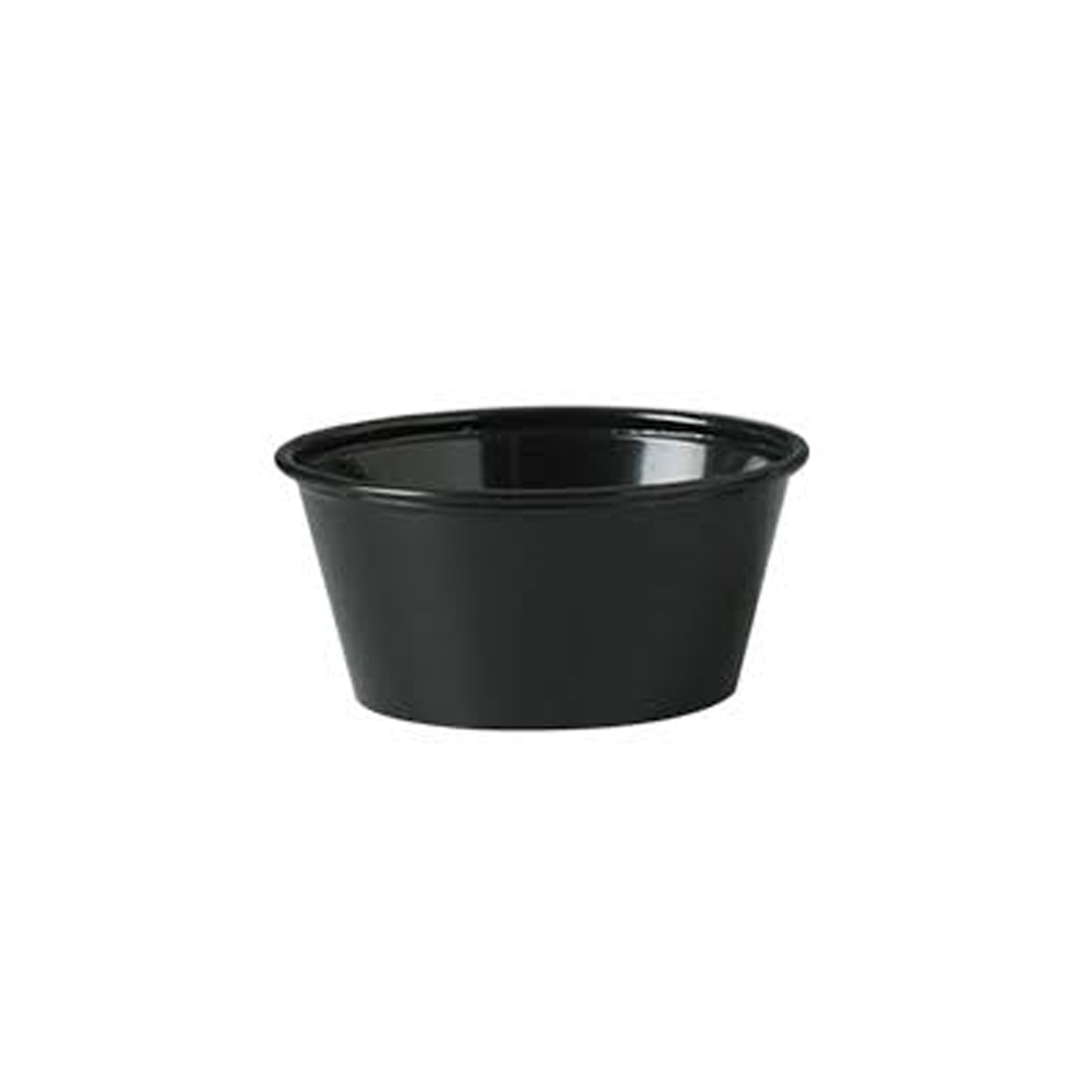 Fabrikal Black 3-1/4oz Portion Cup 151326/PC325B