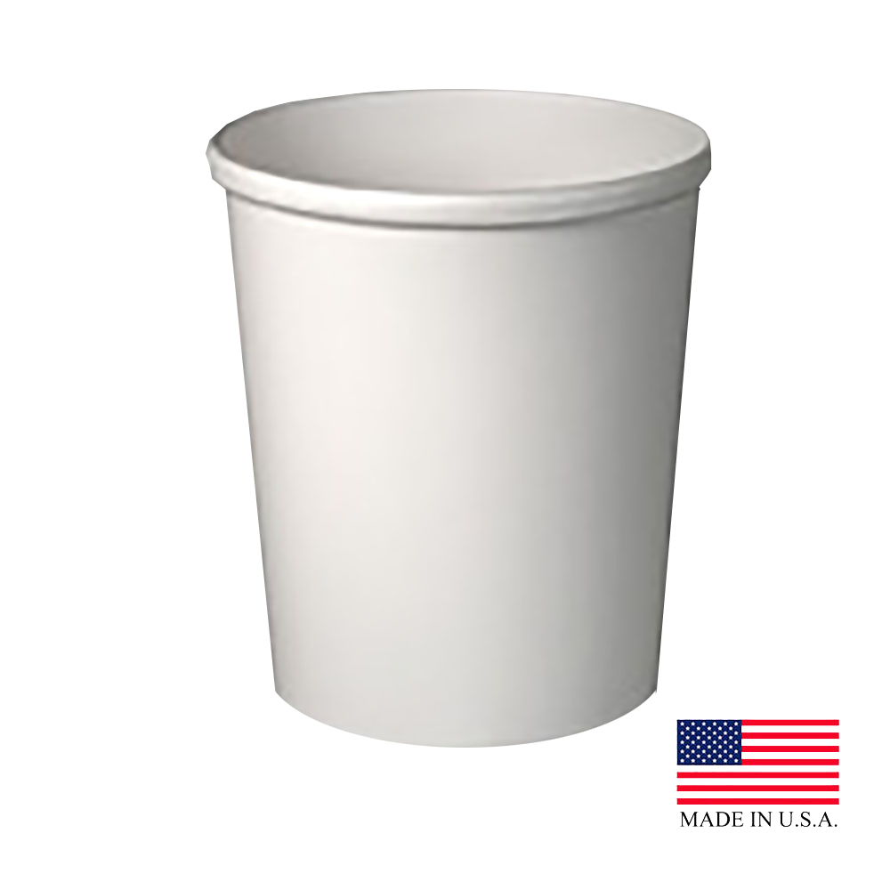 Solo White 32oz Double Poly Paper Food Container H4325-2050