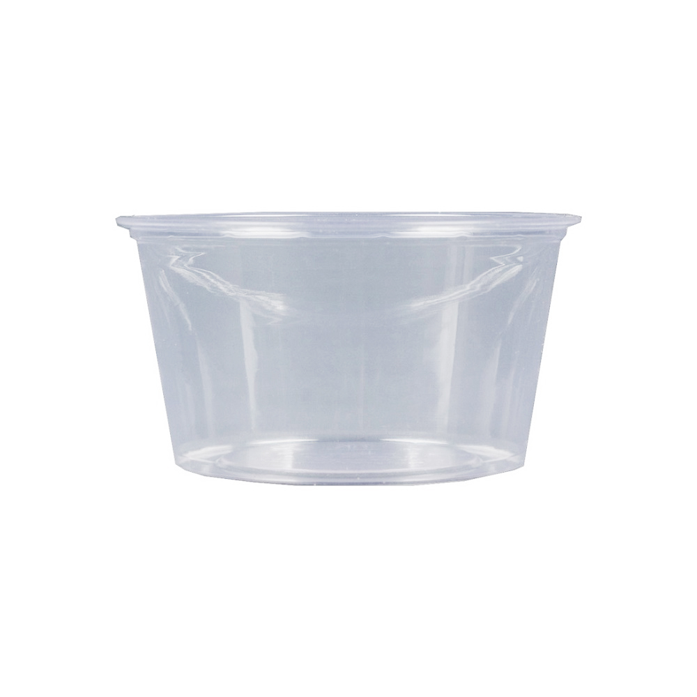 Fabrikal Clear 4oz Compostable Plastic Souffle Cup GPC400/9509306