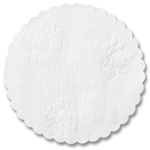 "Hoffmaster White 10"" Round Linen Doily Rose Embossing DL10SP"
