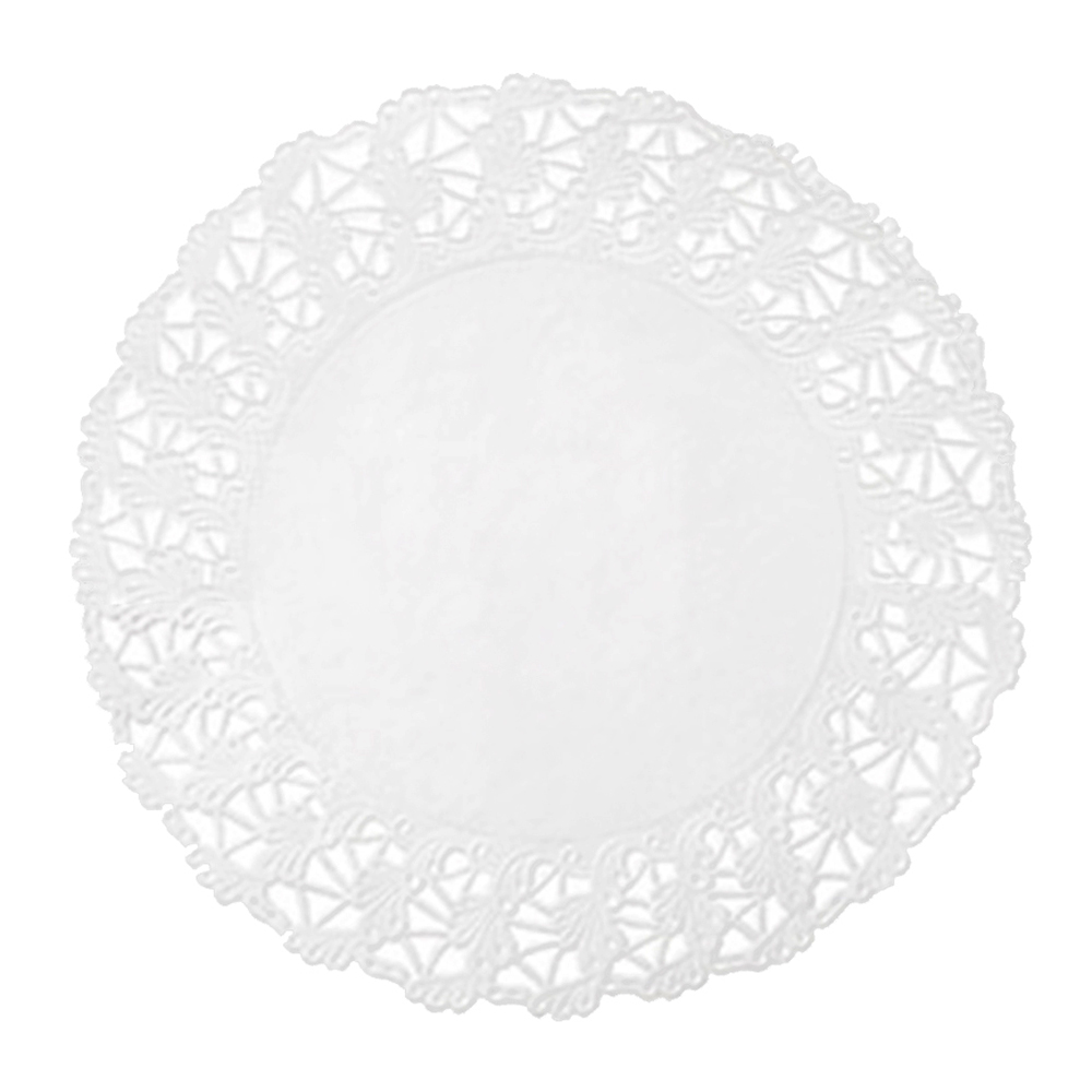 "Hoffmaster White 18"" Round Cake Lace And Linen Doily 500261"