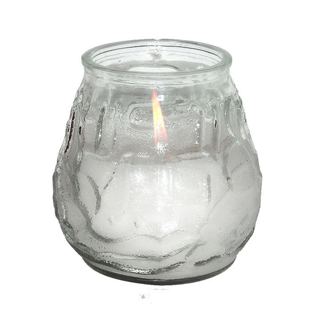 Fancy Heat Clear Unscented Fancy Lite Disposable Victorian Glass Candle F497