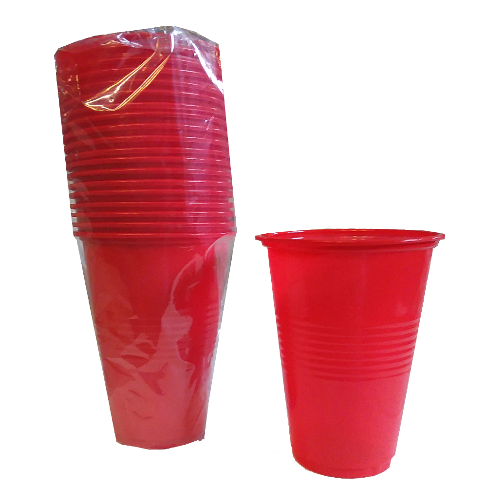 Red 16oz Plastic Cup V310016R - Wholesale Distributor of Food