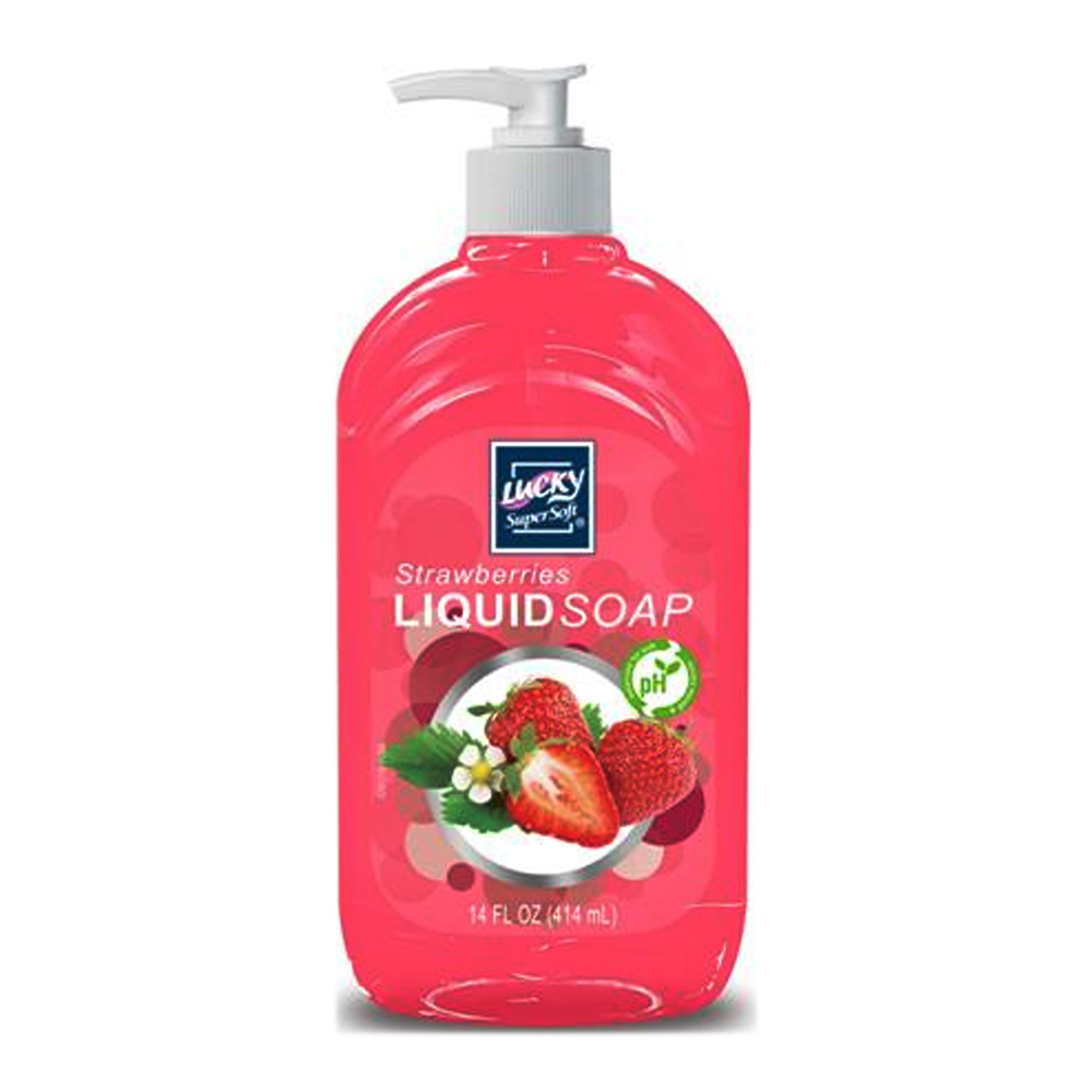 Delta Brands 14oz Lucky Super Soft Strawberries Liquid Soap 3201-12