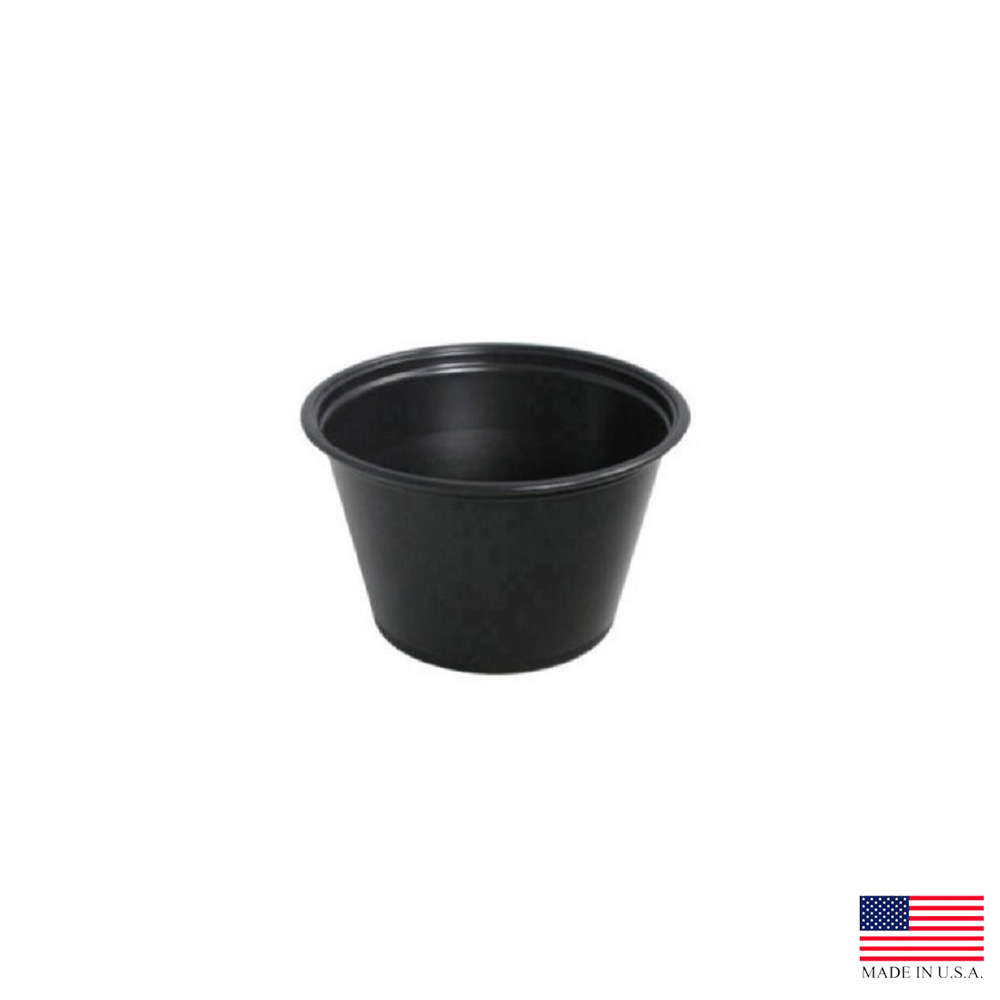Dart - Conex Complements Black 4 oz. Plastic Portion Container 400PCBLK