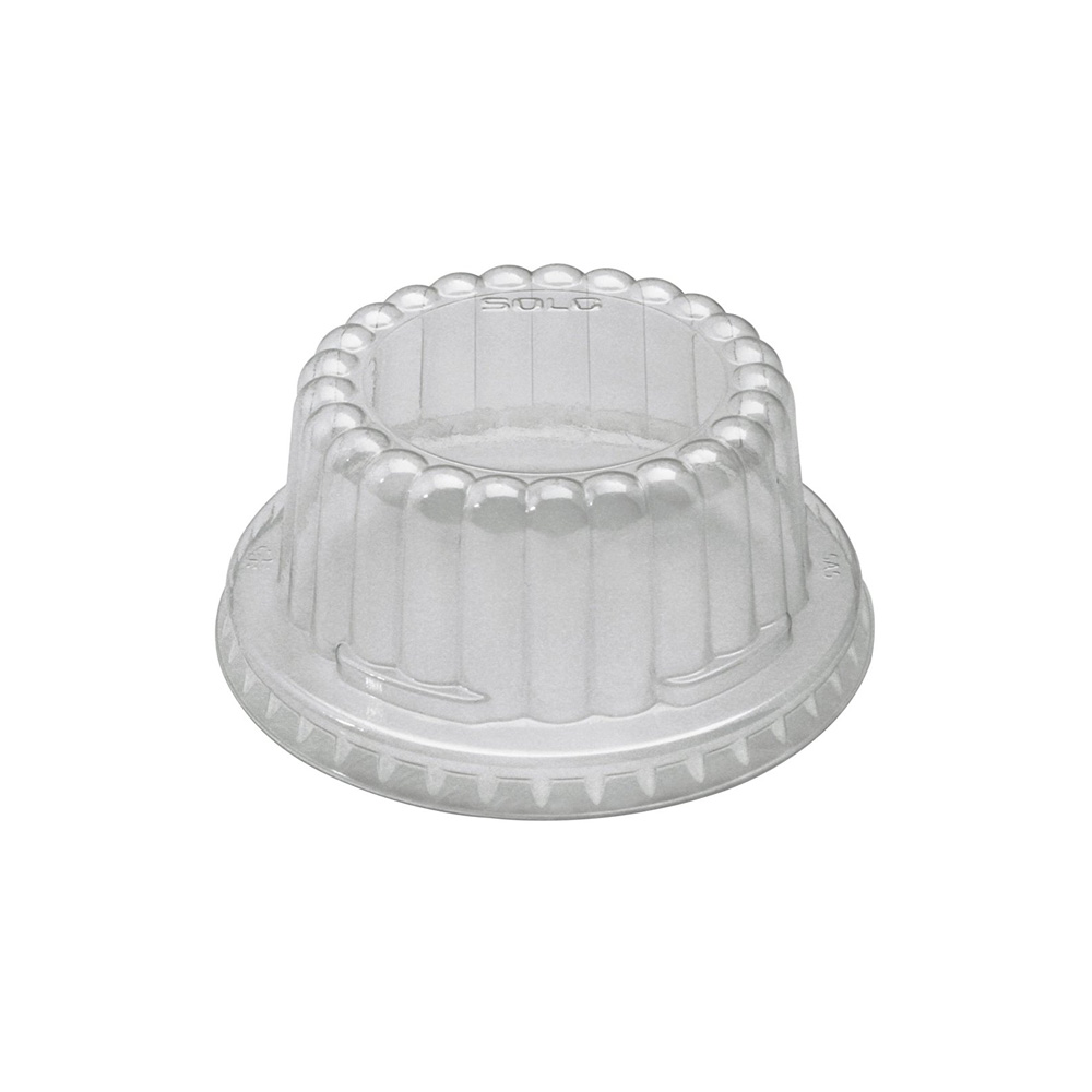 Solo Cup Clear Plastic Dome Lid For S605T         Container DF5-0090