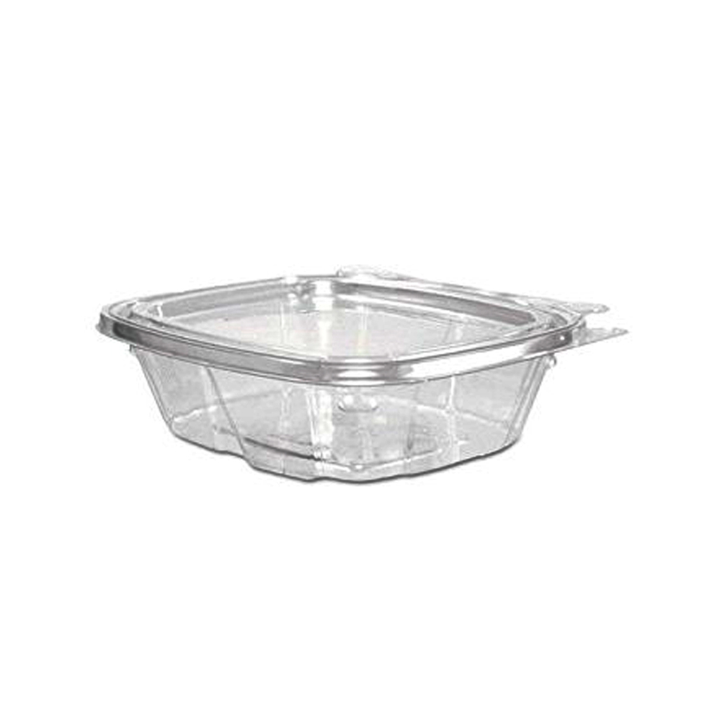 Dart Clear 8oz Plastic Safe Seal Container & Flat Lid Combo
