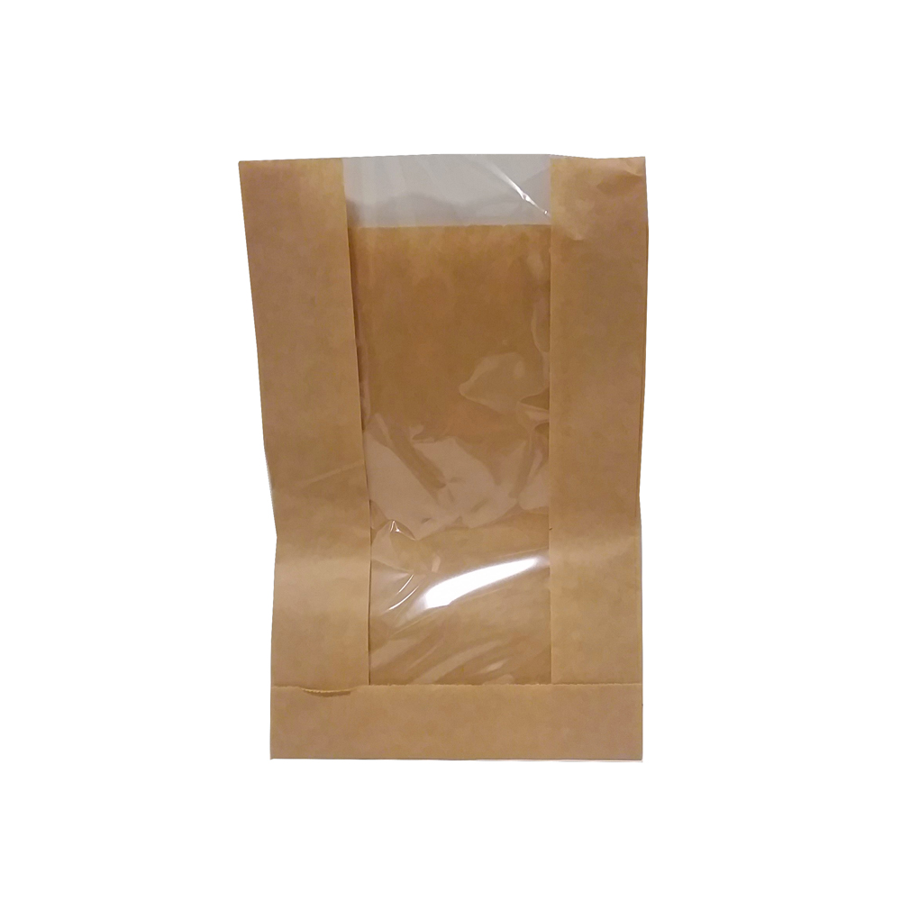 "Eco Kraft 5""x1.5""x7"" Paper Window Bag             391114"