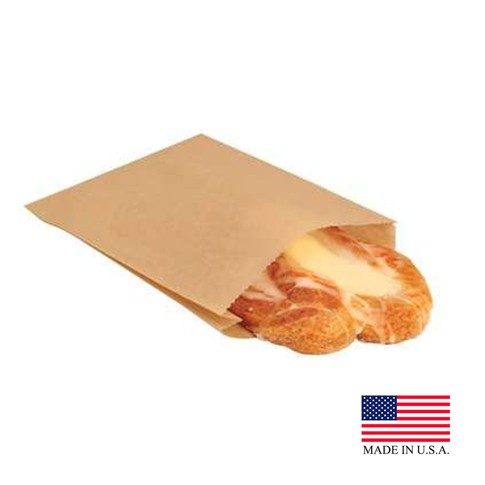 "Bagcraft - Natural 6.5""x8"" Eco Craft Grease       Resistant Paper Sandwich Bag 300100"