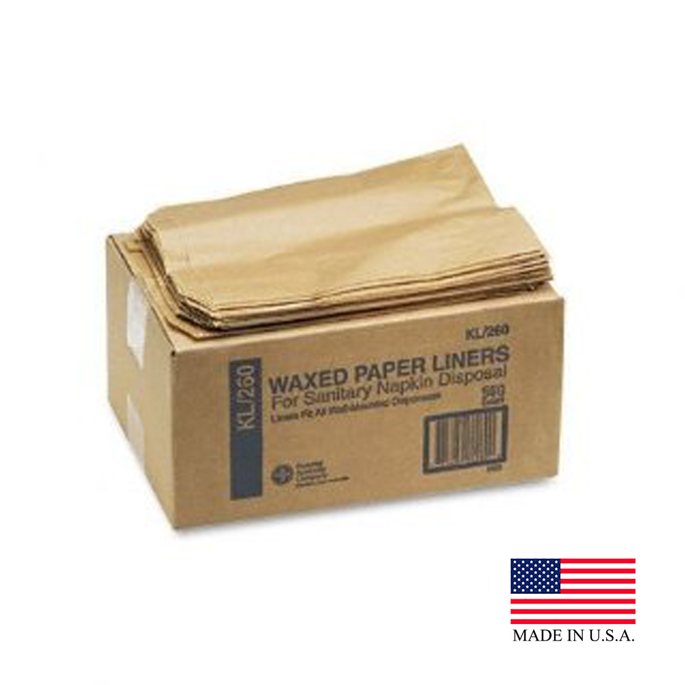 Hospeco Kraft Waxed Paper Liners For Sanitary Napkin Disposal KL/KL-260