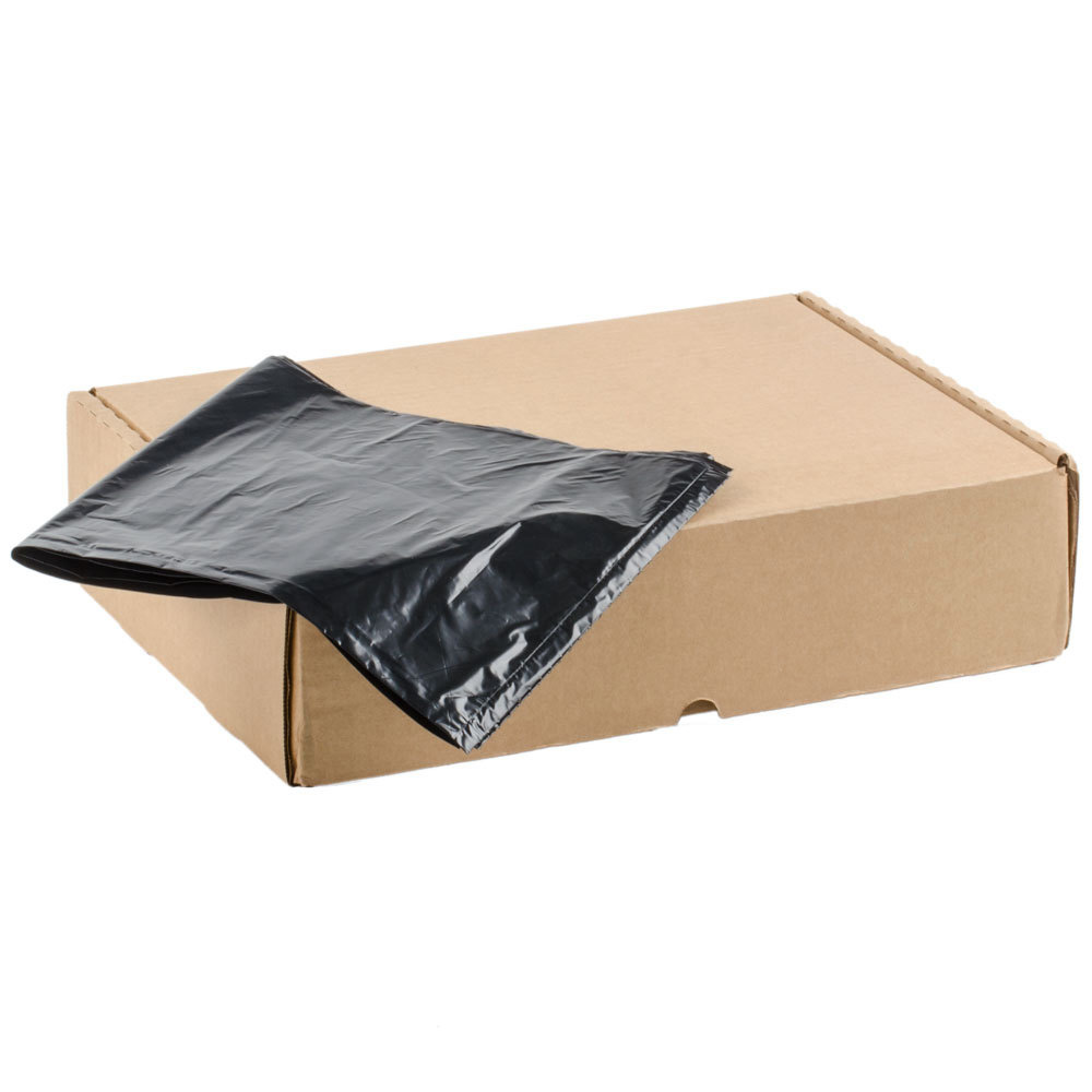 "Berry Plastics Black 55 Gallon 38""x58"" 1.35 Mil Extra Heavy Individual Liners In A Box NYC60"