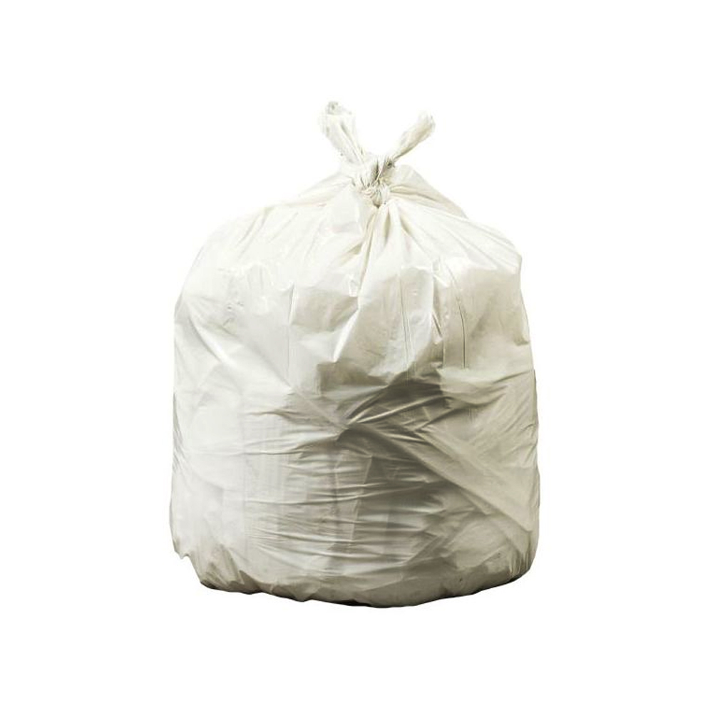 "Revolution Bag Natural 32 Gallon 33""x39"" 1.35 Mil Hercules Recycled Low Density Can Liners PC39"