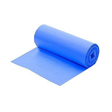 "Berry Plastics Corp. - Blue 40-45 Gallon 40""x48""  19 Mic Plastic Hi-Density Can Liner On A Roll"