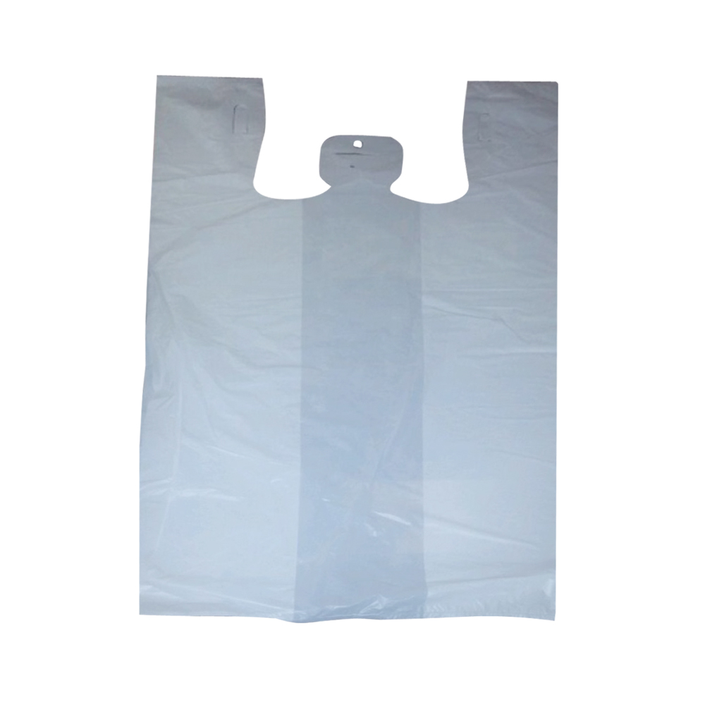 "White 11""x6""x21"" T-Shirt Bag NLPP16PW"