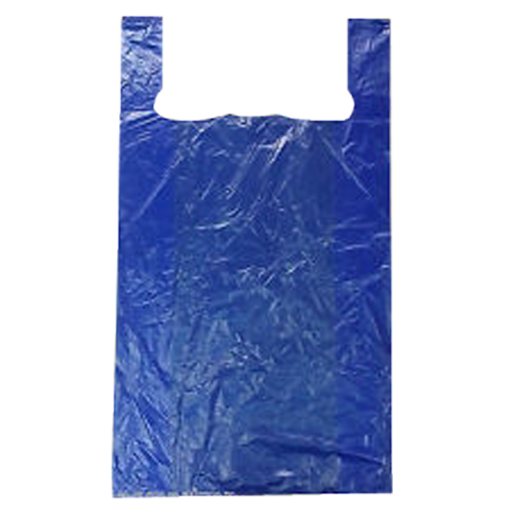 "ANS Plastics Blue 18""x8""x32"" Jumbo Shopping Bag JUMBO-BLUE"