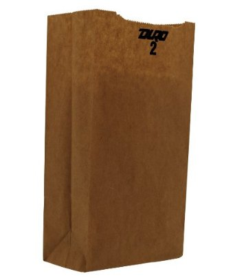 Duro Bag Kraft 2lb Recycled Paper Grocery Bag 18402