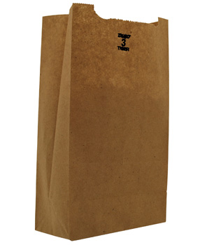 Duro Bag Kraft 3lb Recycled Paper Grocery Bag 18403