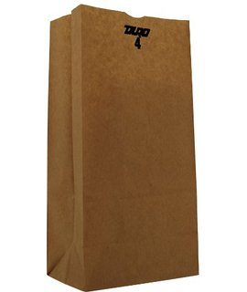 Duro Bag Kraft 4lb Recycled Paper Grocery Bag 18404