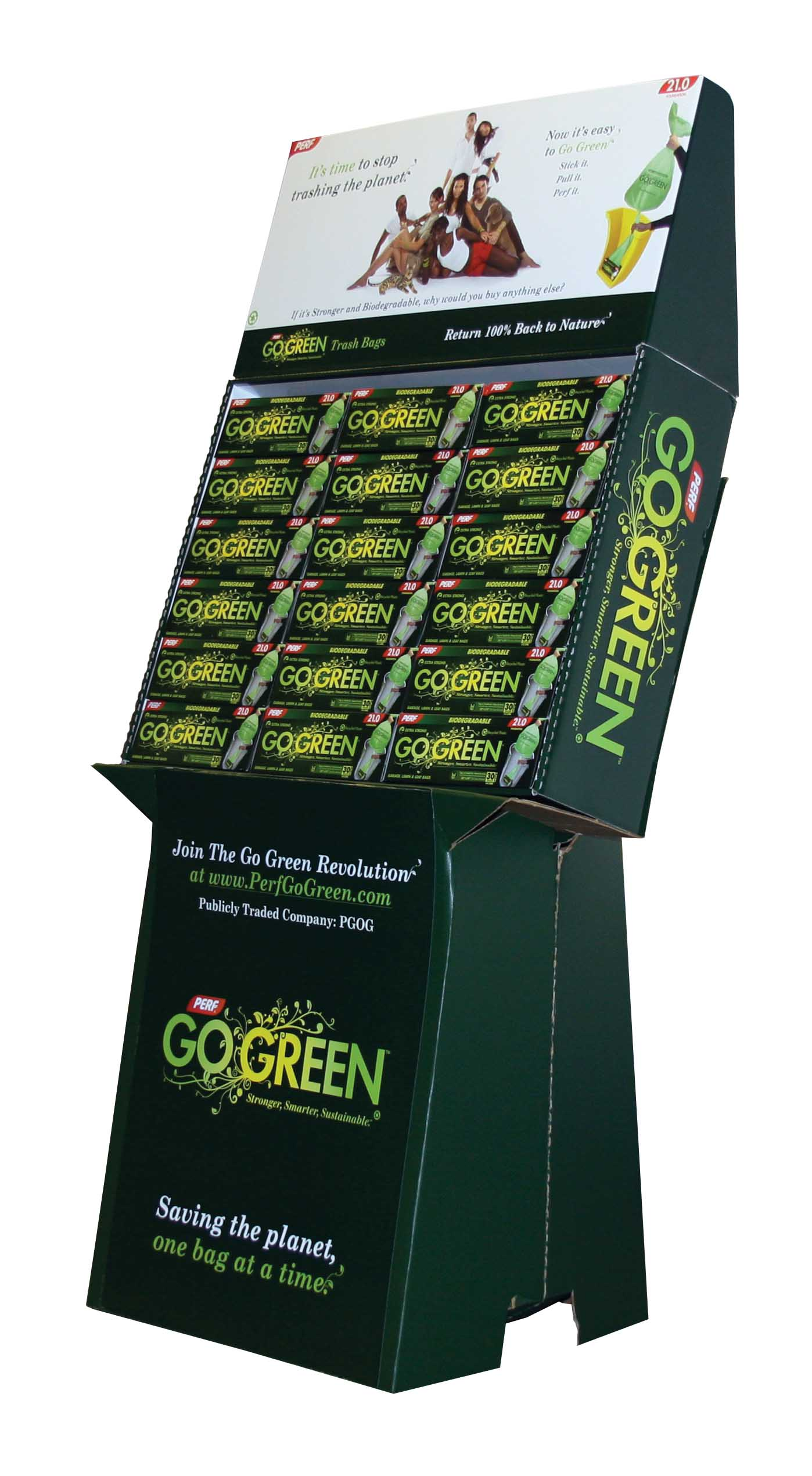 Perf Go Green Green 30 Gallon Lawn & Leaf Display DT30-36