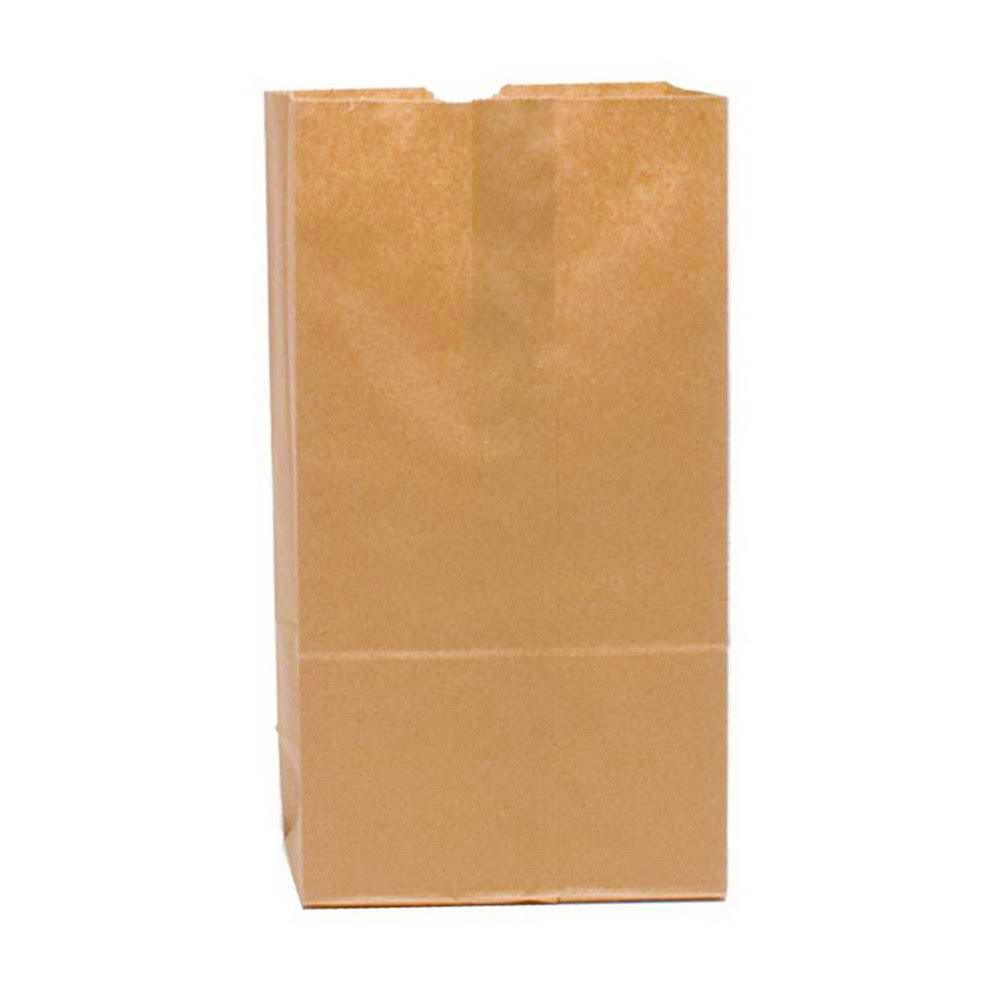 "Duro Bag Kraft 12lb 7 1/16"" X 4 1/2x13"" Heavy Duty Shorty Lion Flat Bottom Husky Paper Bag 7021"