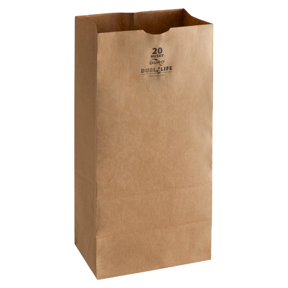 Duro Bag Mfg. - Kraft 20 lb. Paper Husky Paper Bag 70220
