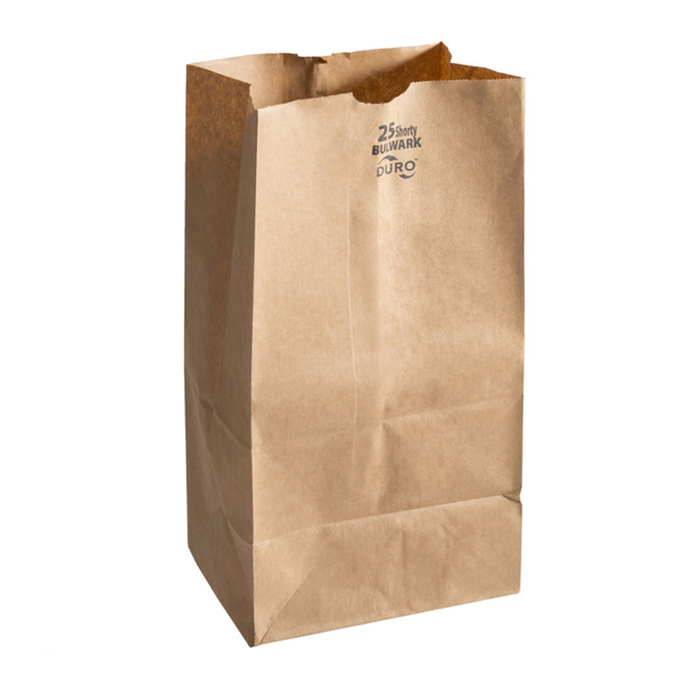 Duro Bag Mfg. - Kraft 25 lb. Paper Shorty Bulwark Bag 71026