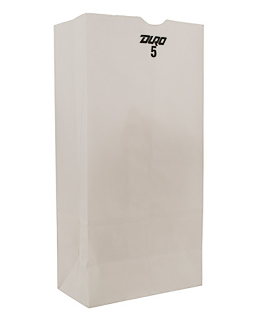 Duro Bag Mfg. - White 5 lb. Wolf Paper Grocery Bag 51045