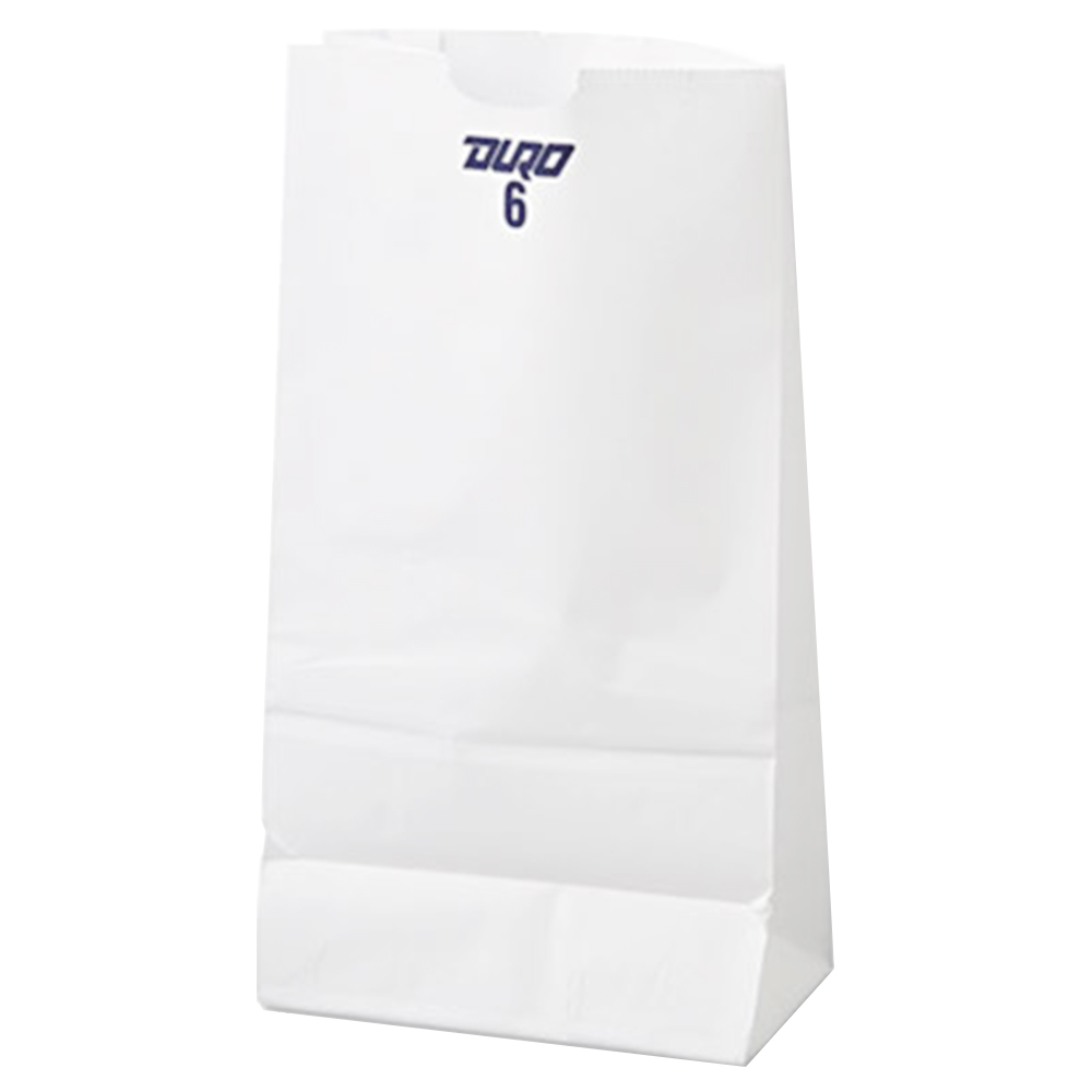 Duro Bag Mfg. - White 6 lb. Wolf Paper Grocery Bag 51046