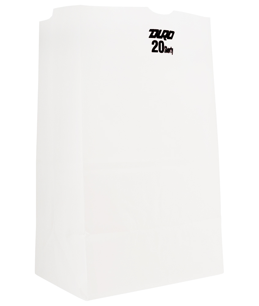 Duro Bag Mfg. - White 20 lb. Wolf Paper Grocery Bag 51040