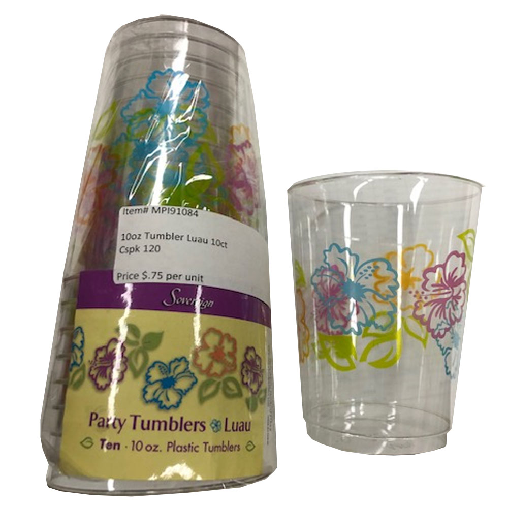 10 oz. Wedding Print Plastic Tumbler MPI91089