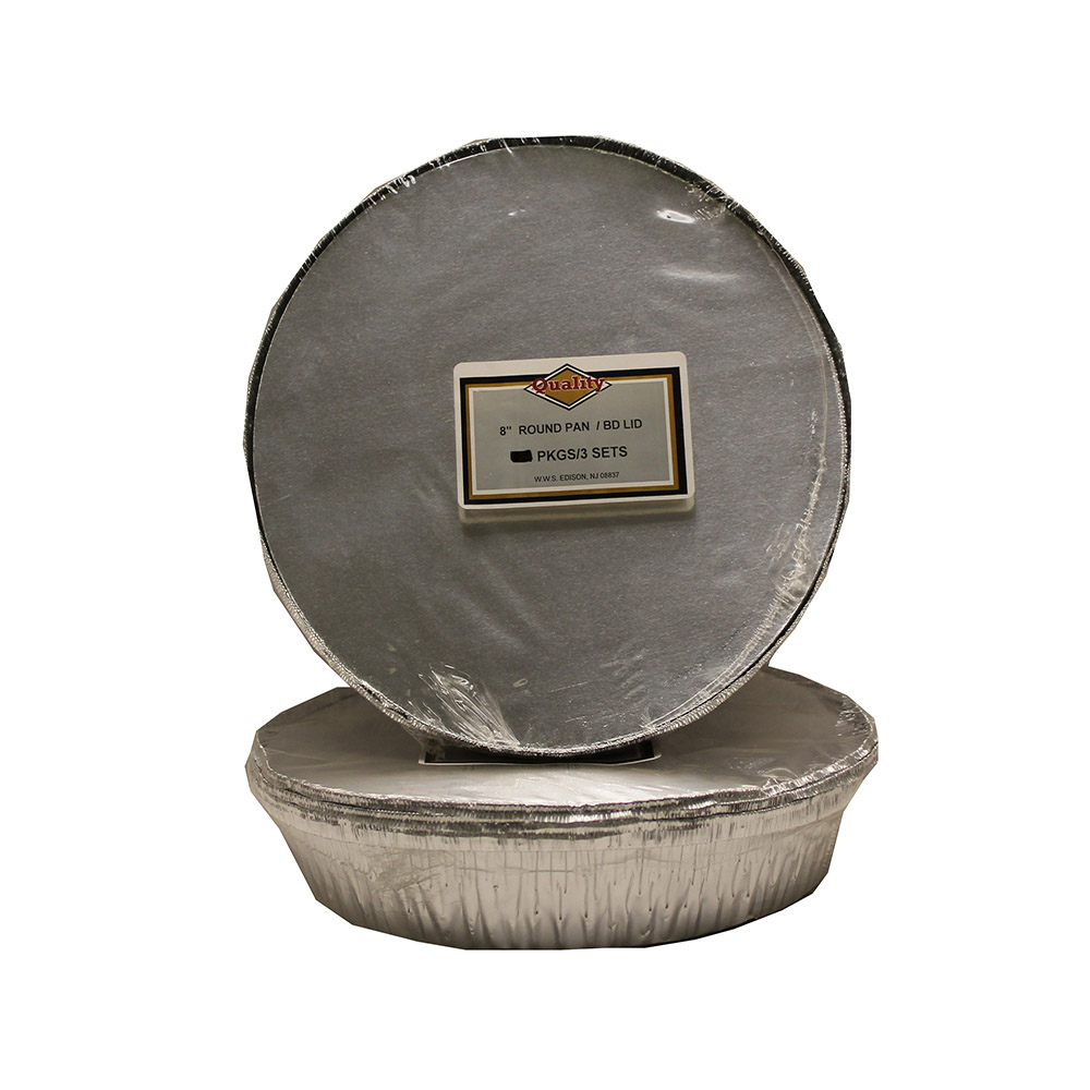 "Aluminum 8"" Round Pan And Board Lid Combo CVP8RFLBL"