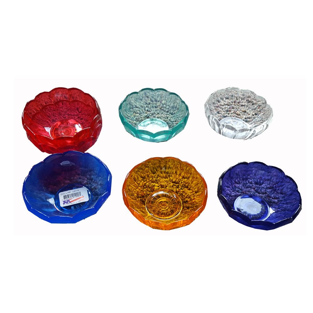 Assorted Colors 8oz Plastic Tulip Bowl MPI45003