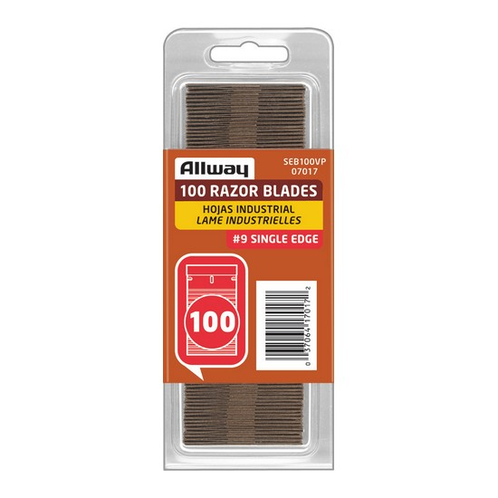 Allway Tools 100 Single Edge Razor Blades SEB100VP
