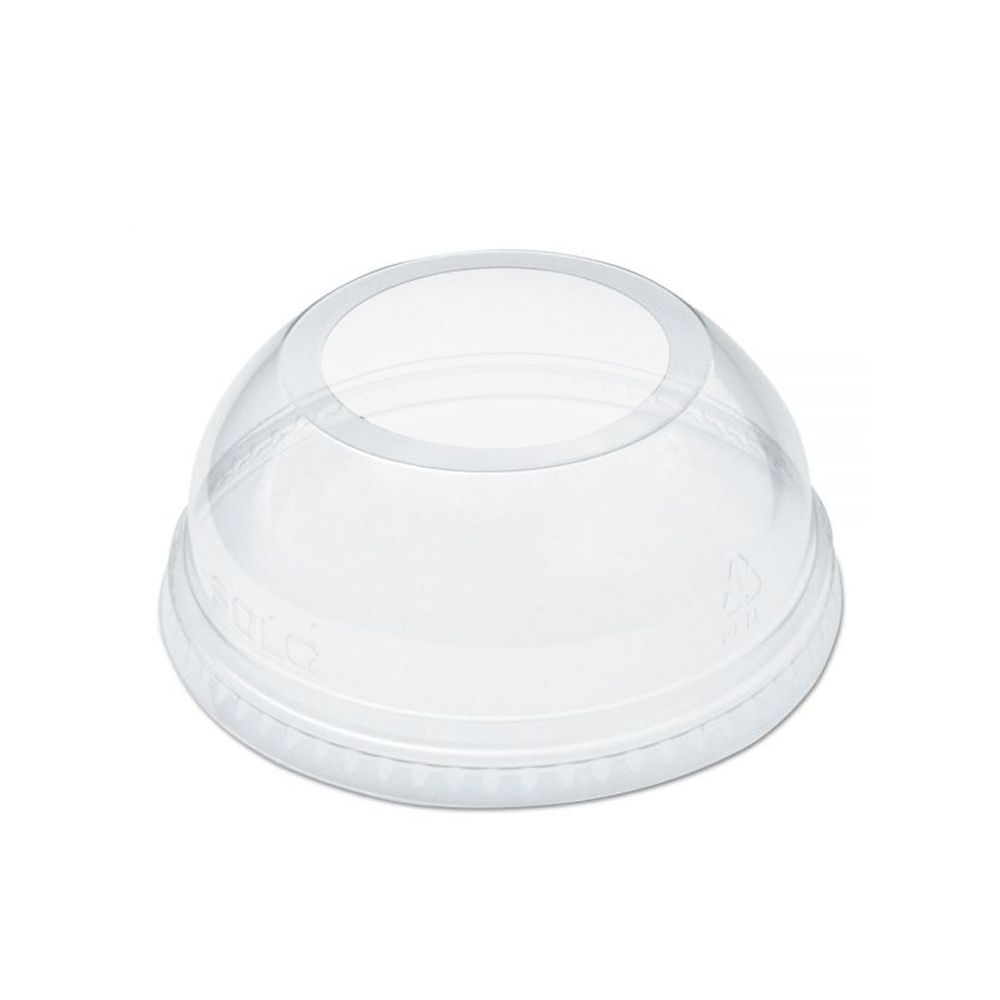 Clear 16 oz. Cold Cup Dome Lid No Hole LD16NH